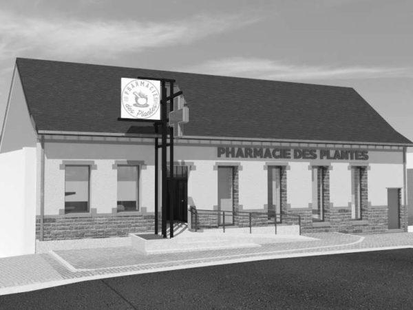 Rénovation d'un bâtiment en pharmacie